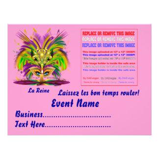 "Mardi Gras Queen 8.5"" x 11""  Please View Notes 8.5"" X 11"" Flyer"