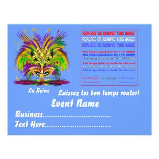 "Mardi Gras Queen 8.5"" x 11""  Please View Notes Flyer"