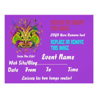 "Mardi Gras Queen 8.5"" x 11"" View Notes Please 8.5"" X 11"" Flyer"