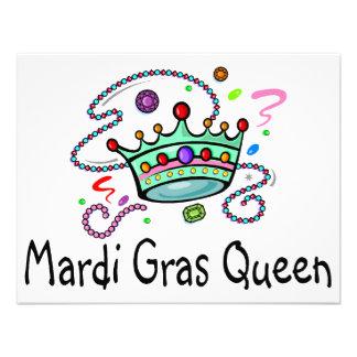 Mardi Gras Queen Personalized Invite