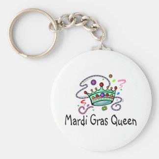 Mardi Gras Queen Basic Round Button Keychain