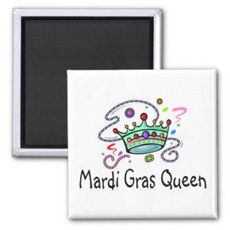Mardi Gras Queen Refrigerator Magnet