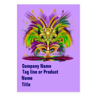 Mardi Gras Queen Please View Hints Large Business Card