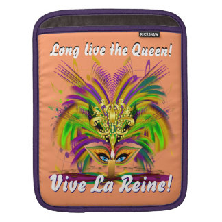 Mardi Gras Queen Please View Notes 30 colors iPad Sleeve