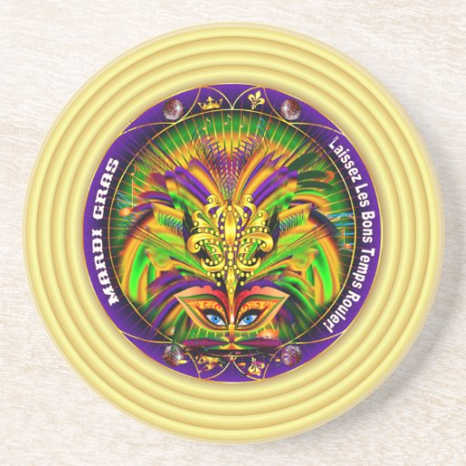 Mardi Gras Queen Style 2 View Notes Plse Beverage Coasters