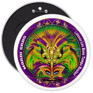 Mardi Gras Queen Style 2 View Notes Plse Pinback Button