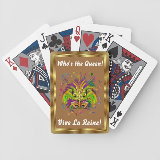 Mardi Gras Queen Style 3 View Notes Plse Bicycle Playing Cards
