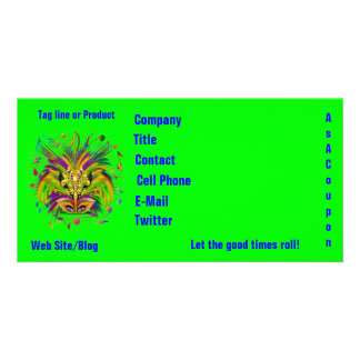Mardi Gras Queen Style 3 View Notes Plse Card