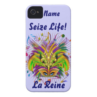 Mardi Gras Queen Style 3 View Notes Plse iPhone 4 Cover