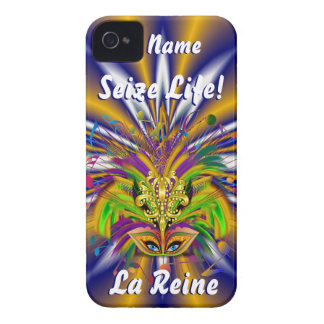 Mardi Gras Queen Style 3 View Notes Plse Case-Mate iPhone 4 Cases