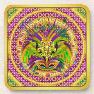 Mardi Gras Queen Style 3 View Notes Plse Drink Coaster
