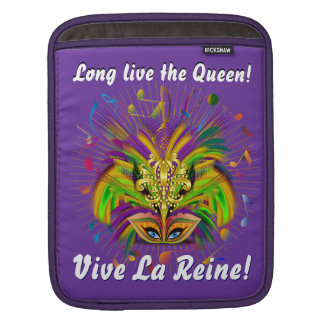 Mardi Gras Queen Style 3 View Notes Plse iPad Sleeve