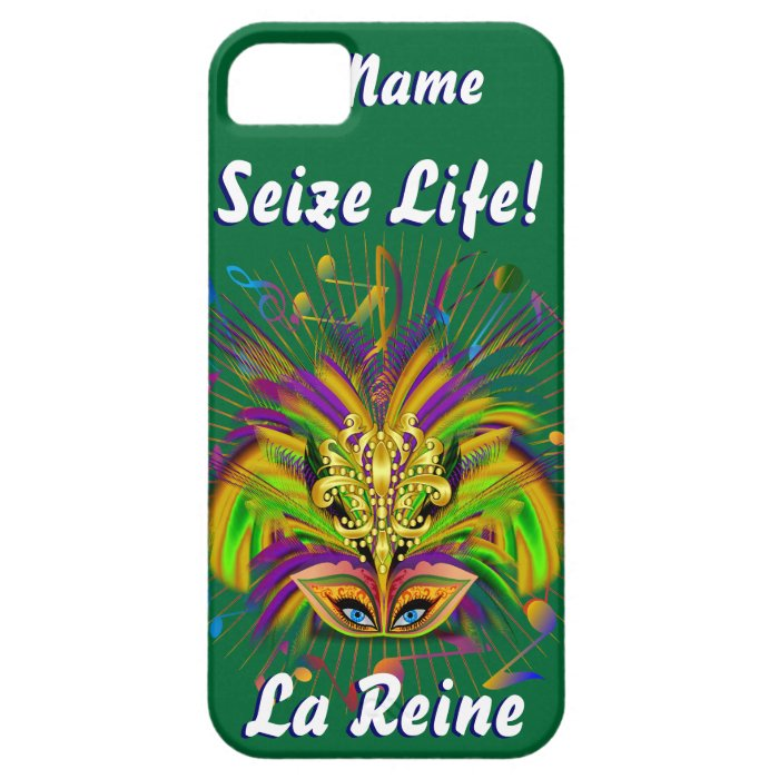 Mardi Gras Queen Style 3 View Notes Plse iPhone SE/5/5s Case