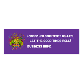 Mardi Gras Queen Style 3 View Notes Plse Mini Business Card