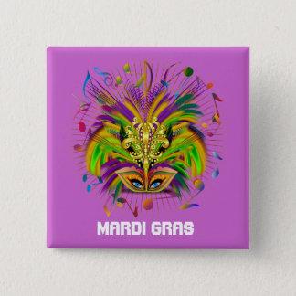 Mardi Gras Queen Style 3 View Notes Plse Pinback Button