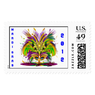 Mardi Gras Queen Style 3 View Notes Plse Postage Stamps