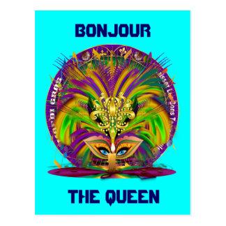 Mardi Gras Queen Style 3 View Notes Plse Postcard