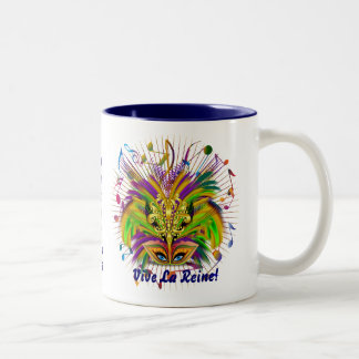 Mardi Gras Queen Style 3 View Notes Plse Two-Tone Coffee Mug