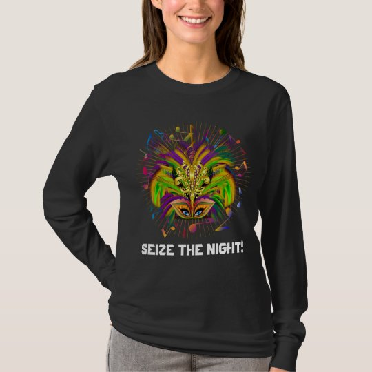 Mardi Gras Queen Style Dark View Notes Plse T-Shirt