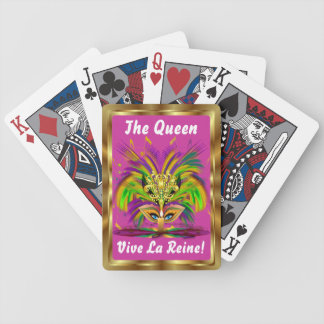 Mardi Gras Queen View Notes Please Bicycle Playing Cards