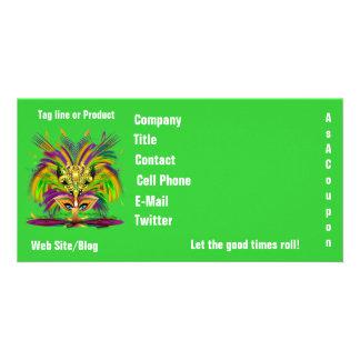 Mardi Gras Queen View Notes Please Card