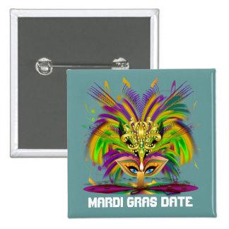 Mardi Gras Queen View Notes Please Pinback Button
