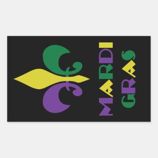 Mardi Gras Rectangular Sticker