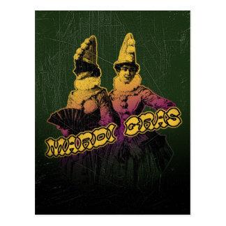 Mardi Gras Revelers Postcard