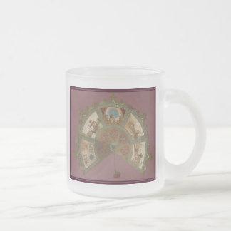 Mardi Gras Rex Ball 1890 Frosted Glass Coffee Mug