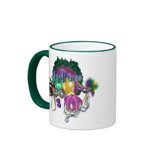 Mardi Gras Ringer Coffee Mug