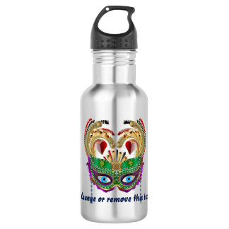Mardi Gras Riverboat Queen 2 view notes below Stainless Steel Water Bottle