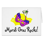 Mardi Gras Rocks 2 Greeting Card