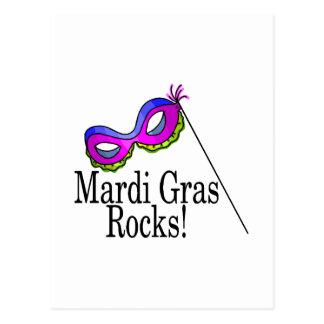 Mardi Gras Rocks Mask Postcard