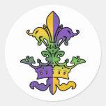 Mardi Gras Royalty Classic Round Sticker