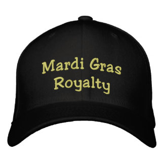 Mardi Gras Royalty Embroidered Baseball Hat
