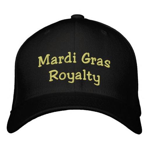 Mardi Gras Royalty Embroidered Baseball Hat