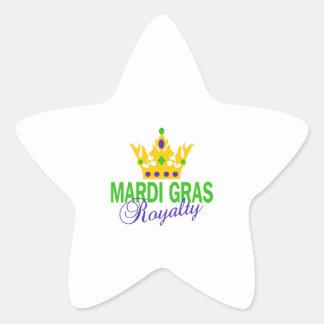 MARDI GRAS ROYALTY STAR STICKER