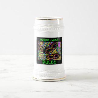MARDI GRAS RULES BEER STEIN