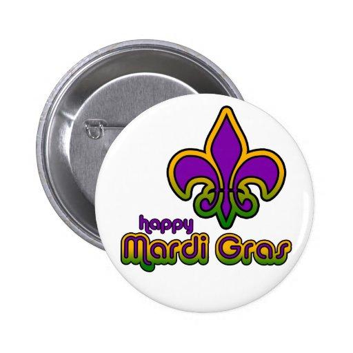 Mardi Gras Seventies Retro Button