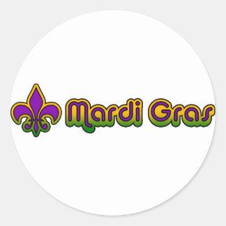 Mardi Gras Seventies Retro Sticker