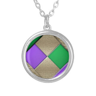 Mardi Gras Silver Plated Necklace