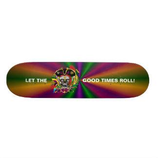 Mardi Gras Skate Board
