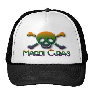 Mardi Gras Skull & Crossbones Trucker Hat