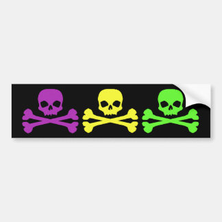 Mardi Gras Skulls Car Bumper Sticker