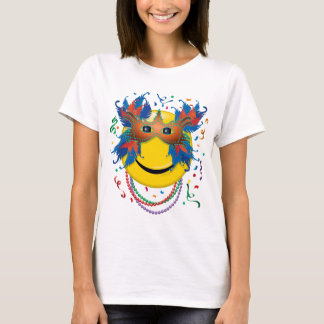 Mardi Gras Smiley Face T-Shirt
