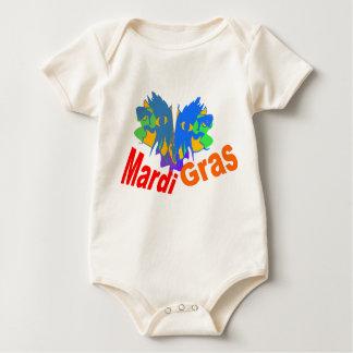 Mardi Gras Split Mask Baby Bodysuit