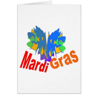 Mardi Gras Split Mask Cards