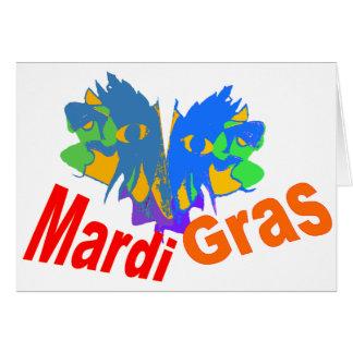 Mardi Gras Split Mask Greeting Cards