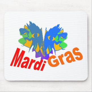 Mardi Gras Split Mask Mouse Pad
