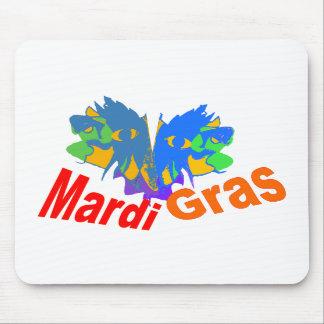 Mardi Gras Split Mask Mouse Pads